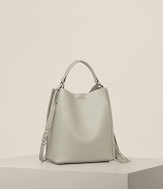 Mujer Bolso Pearl Mini Hobo (LIGHT CEMENT GREY) - Image 5