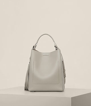 Womens Pearl Mini Hobo Bag (LIGHT CEMENT GREY) - Image 7
