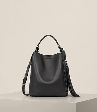 Womens Pearl Mini Hobo Bag (Black) - product_image_alt_text_1