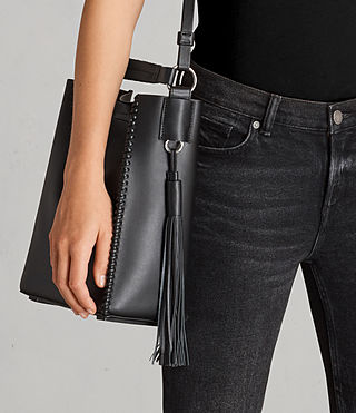 Womens Pearl Mini Hobo Bag (Black) - product_image_alt_text_2