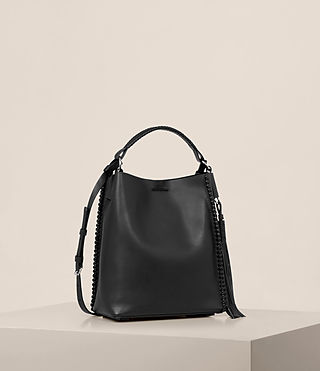 Womens Pearl Mini Hobo Bag (Black) - product_image_alt_text_5