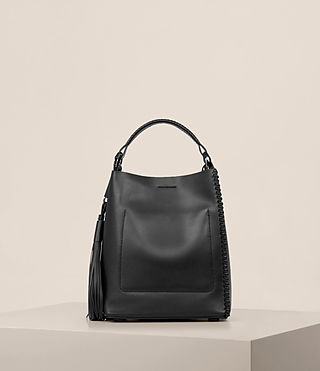 Womens Pearl Mini Hobo Bag (Black) - product_image_alt_text_7