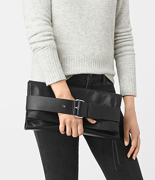 Women's Zoku Large Clutch (Black) - product_image_alt_text_2
