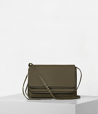 Womens 클럽 크로스보디 (Dark Khaki Green)