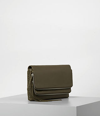 Damen Club Crossbody (Dark Khaki Green) - product_image_alt_text_3