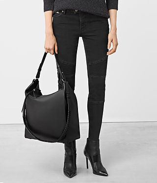 Womens Kita North South Tote (Black) - product_image_alt_text_2
