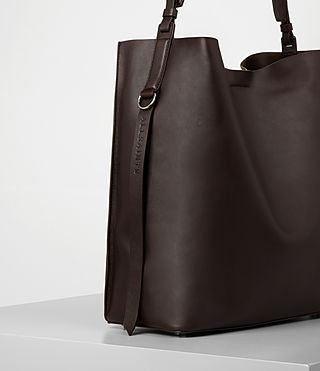 Women's Paradise North South Tote (Burgundy/Dk Choc) - product_image_alt_text_2