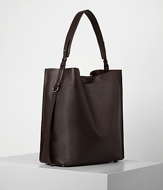 Women's Paradise North South Tote (Burgundy/Dk Choc) - product_image_alt_text_3