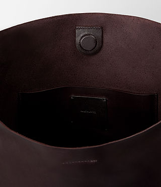 Women's Paradise North South Tote (Burgundy/Dk Choc) - product_image_alt_text_4