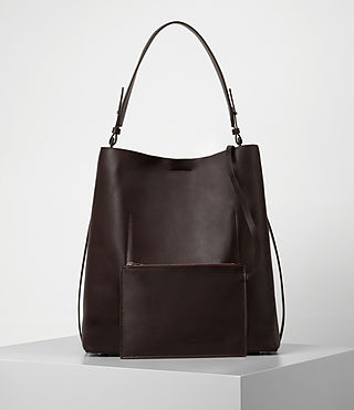 Women's Paradise North South Tote (Burgundy/Dk Choc) - product_image_alt_text_5
