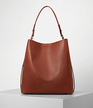 Womens Paradise North South Tote (BRICK BROWN)