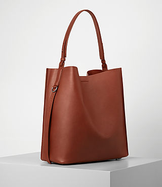 Donne Paradise North South Tote (BRICK BROWN) - product_image_alt_text_3
