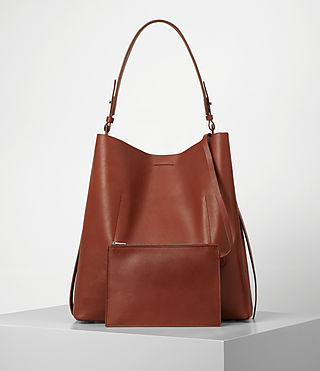 Donne Paradise North South Tote (BRICK BROWN) - product_image_alt_text_5