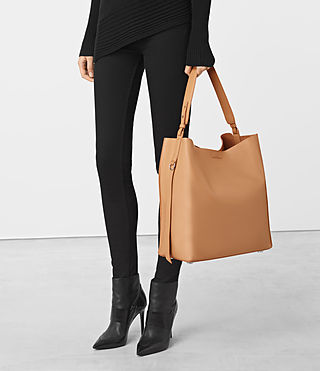 Womens Paradise North South Tote (LIGHT CARAMEL) - product_image_alt_text_2