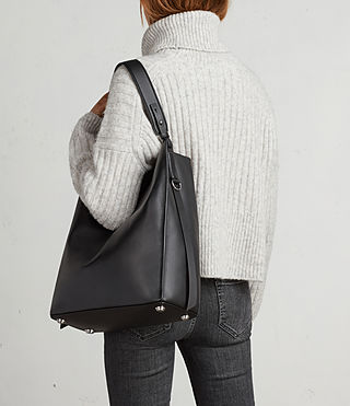 Women's Paradise North South Tote (Black) - product_image_alt_text_3