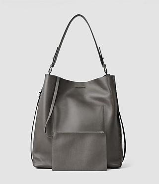 Womens Paradise North South Tote (Dark Grey) - product_image_alt_text_3