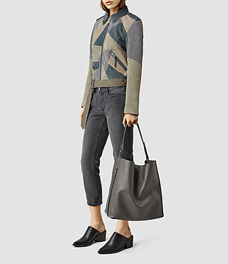 Womens Paradise North South Tote (Dark Grey) - product_image_alt_text_6