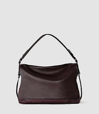 Mujer Paradise Satchel Bag (Burgundy/Dk Choc) -