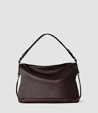Donne Paradise Satchel Bag (Burgundy/Dk Choc)