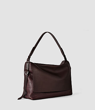 Damen Paradise Satchel Bag (Burgundy/Dk Choc) - product_image_alt_text_3