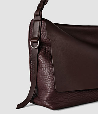 Damen Paradise Satchel Bag (Burgundy/Dk Choc) - product_image_alt_text_5
