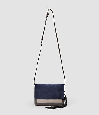 Damen Belle Medium Clutch Bag (PtlBlu/MdGry/DkGry)