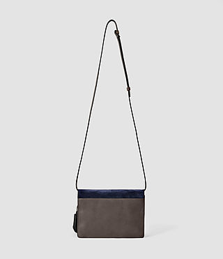 Donne Belle Medium Clutch Bag (PtlBlu/MdGry/DkGry) - product_image_alt_text_3