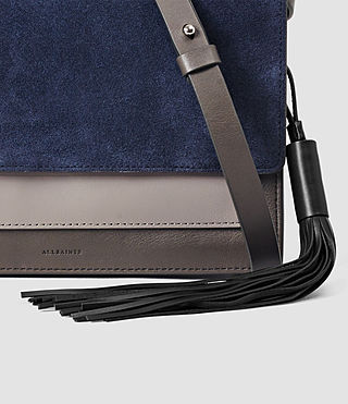 Donne Belle Medium Clutch Bag (PtlBlu/MdGry/DkGry) - product_image_alt_text_4
