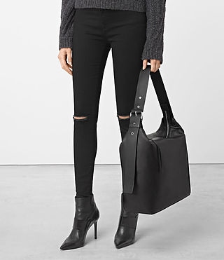 Womens Zoku North South Tote (Black) - product_image_alt_text_2