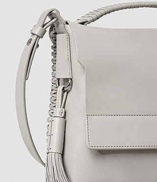 Women's Pearl Shoulder Bag (Light Grey) - product_image_alt_text_4