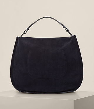 Donne Kanda Large Suede Hobo Bag (Dark Blue) - product_image_alt_text_7