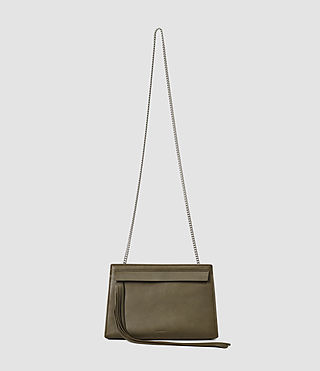 Damen Kyo Medium Crossbody (Dark Khaki Green)