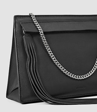 Womens Kyo Medium Crossbody (Black) - product_image_alt_text_4