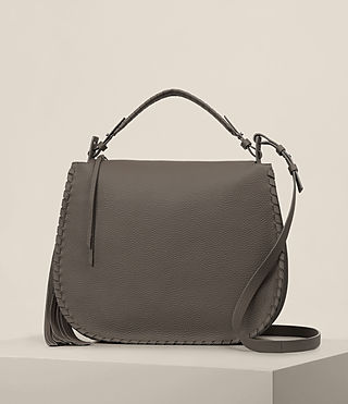 Womens Mori Hobo Bag (MINK GREY)