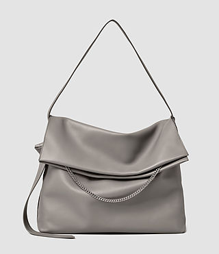 Womens Lafayette Large Shoulder Bag (Mid Grey)