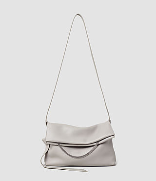 Mujer Lafayette Medium Shoulder Bag (Light Grey)