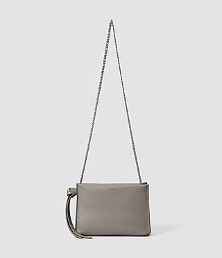Womens Lafayette Clutch (Mid Grey) - product_image_alt_text_1