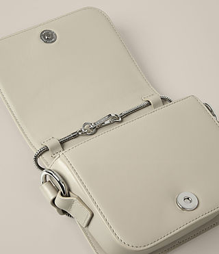 Womens Ikuya Small Clutch (STONE WHITE) - product_image_alt_text_5