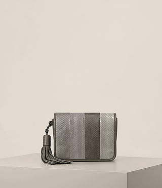 Damen Bansho Snake Shoulder Bag (MINK GREY)