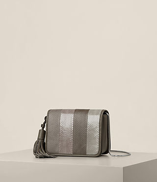 Donne Bansho Snake Shoulder Bag (MINK GREY) - product_image_alt_text_2