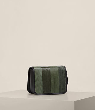 Womens Bansho Snake Shoulder Bag (FOREST GREEN/BLACK) - product_image_alt_text_4