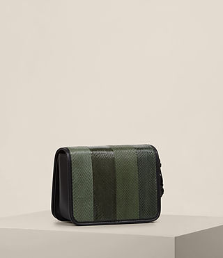 Mujer Bansho Snake Shoulder Bag (FOREST GREEN/BLACK) - product_image_alt_text_5