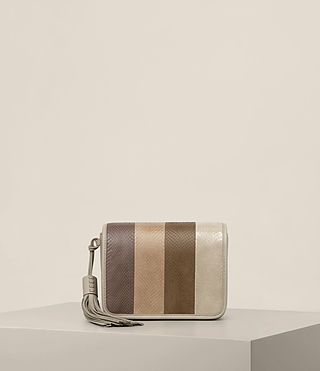 Mujer Bansho Snake Shoulder Bag (BEIGE/STONE WHITE) - product_image_alt_text_1