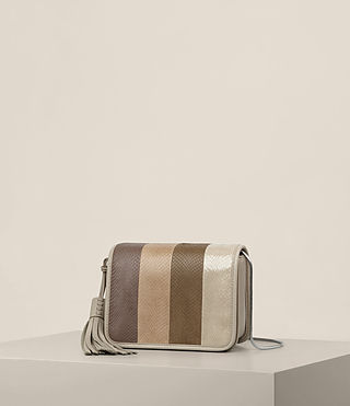 Mujer Bansho Snake Shoulder Bag (BEIGE/STONE WHITE) - product_image_alt_text_3