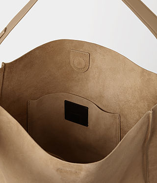 Mujer Paradise North South Suede Tote (Sand) - product_image_alt_text_5