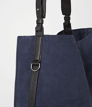 Mujer Paradise North South Suede Tote (PETROL BLUE/BLACK) - product_image_alt_text_2