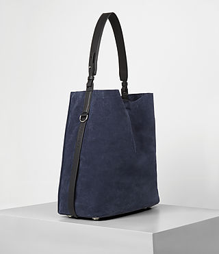 Mujer Paradise North South Suede Tote (PETROL BLUE/BLACK) - product_image_alt_text_3