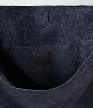 Mujer Paradise North South Suede Tote (PETROL BLUE/BLACK) - product_image_alt_text_4