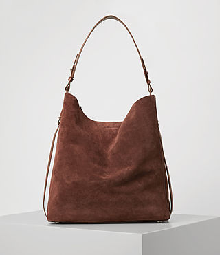 Donne Paradise North South Suede Tote (BRANDY/BRICK BROWN) -