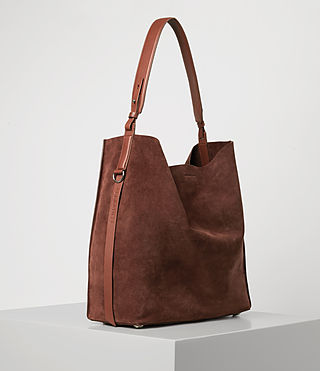 Donne Paradise North South Suede Tote (BRANDY/BRICK BROWN) - product_image_alt_text_4